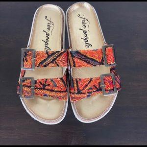 Free People red Bali footed sandal